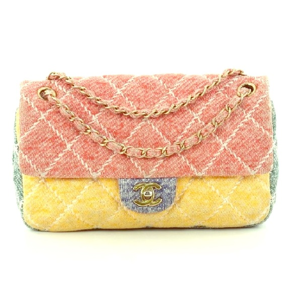 267277363e0c CHANEL Bags | Authentic Flap Multi Quilted Jersey Medium Bag | Poshmark